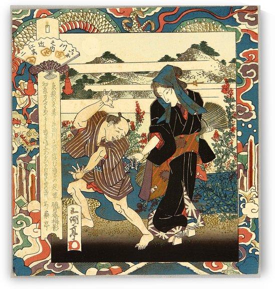 Street Walker at Tama River by Utagawa Kuniyoshi