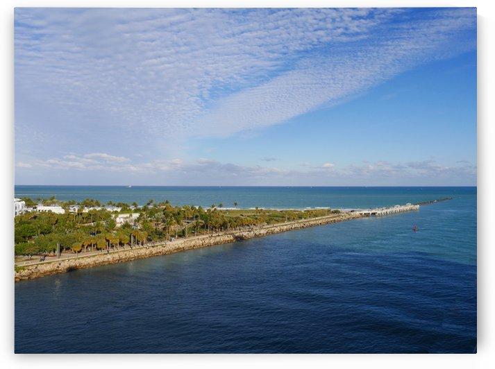 Miami Coastline View Florida  by On da Raks