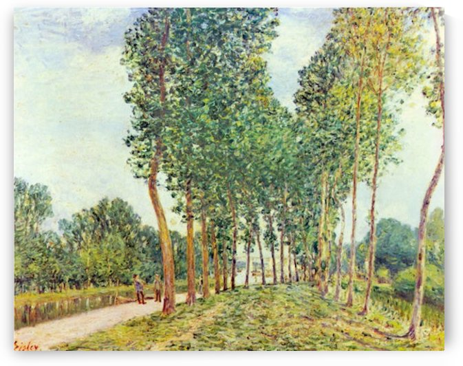 Banks of the Loing in Moret by Sisley by Sisley