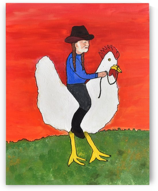 Willie on a Chicken. David K by The Arc of the Capital Area