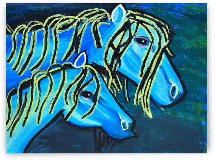 Blue Horse. Glenn N by The Arc of the Capital Area
