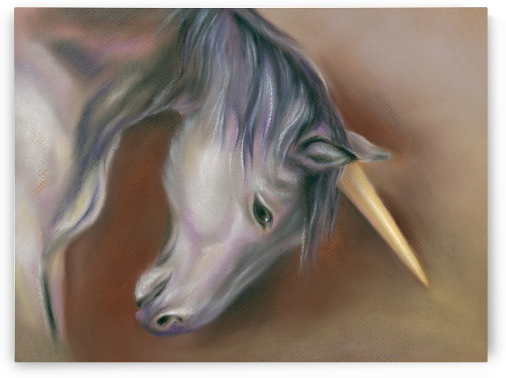 Unicorn with a Golden Horn by MM Anderson