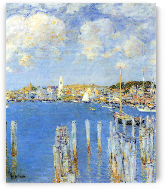 The inland port of Gloucester by Hassam by Hassam
