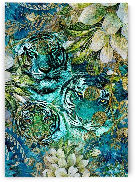 Three Tigers in a Bush by Jeremy Lyman