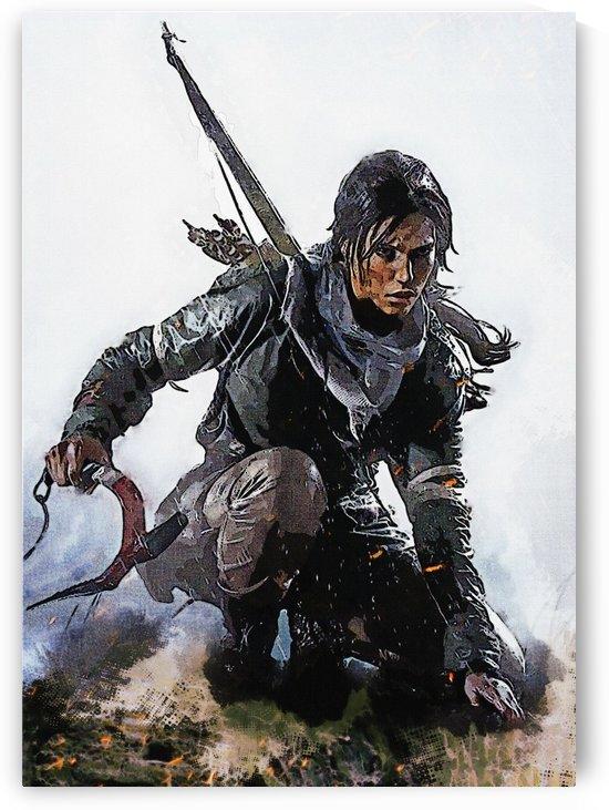 Lara croft going to Battle by Gunawan Rb