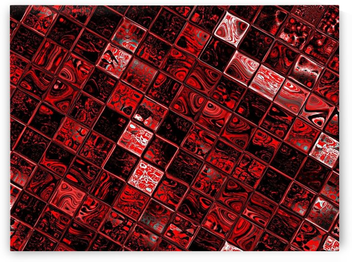 Red Glass Tiles 2 by Sherrie Larch