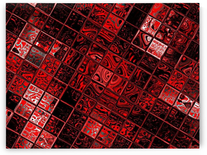 Red Glass Tiles 5 by Sherrie Larch