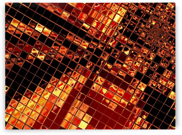 Gold Glass Tiles 2 by Sherrie Larch