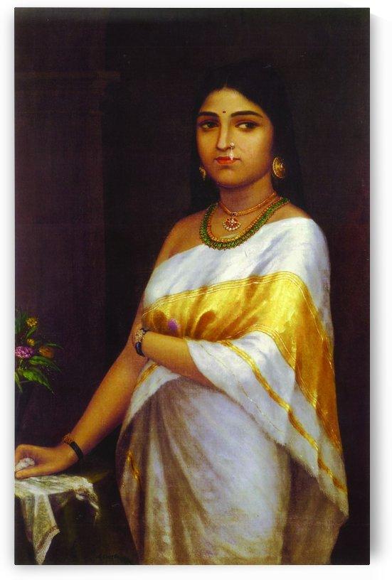 Kerala royal lady by Raja Ravi Varma