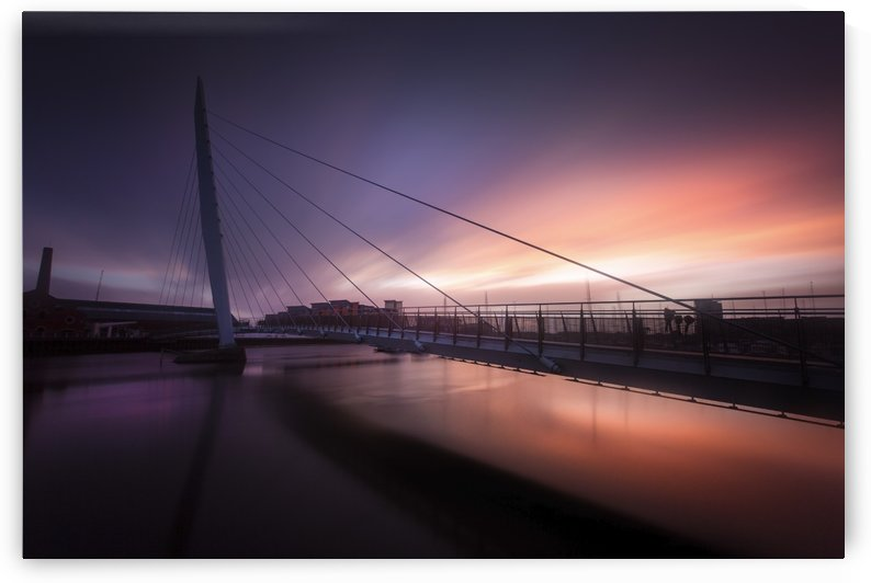 Daybreak at Swansea Sail Bridge by Leighton Collins