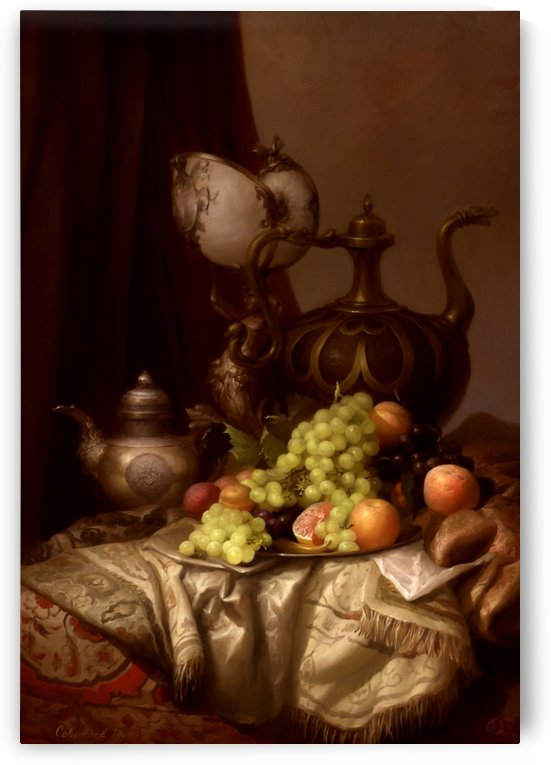 Still life with a teapot by Dmitry Sevryukov