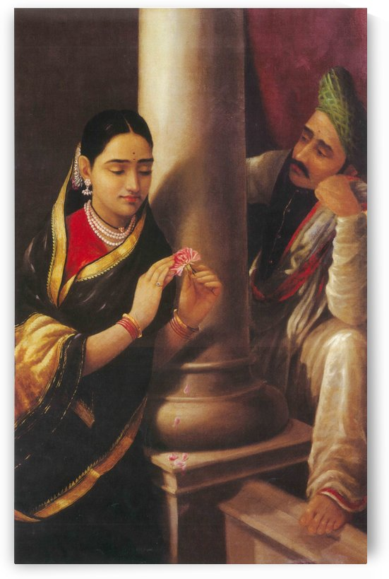 Young couple by Raja Ravi Varma