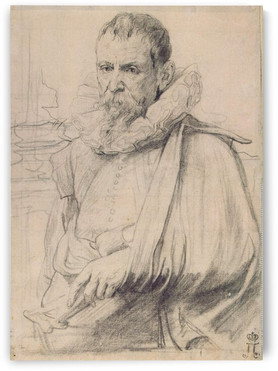 Portrait of Pieter Brueghel the Younger by Pieter Brueghel the Younger