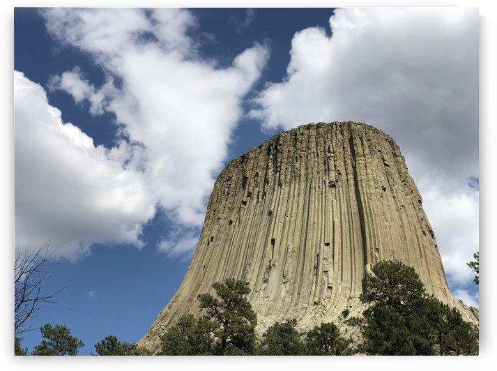 Dramatic Skies Devils Tower Wyoming by On da Raks