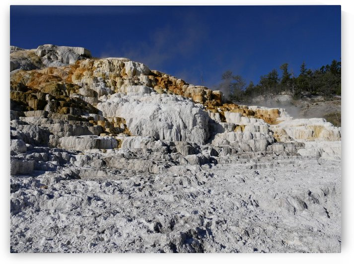 Mammoth Springs Yellowstone National Park by On da Raks