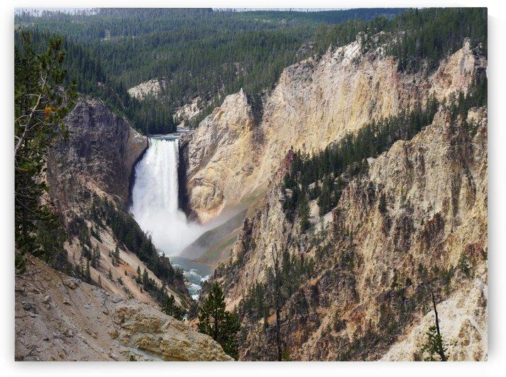 Lower Falls Yellowstone National Park by On da Raks