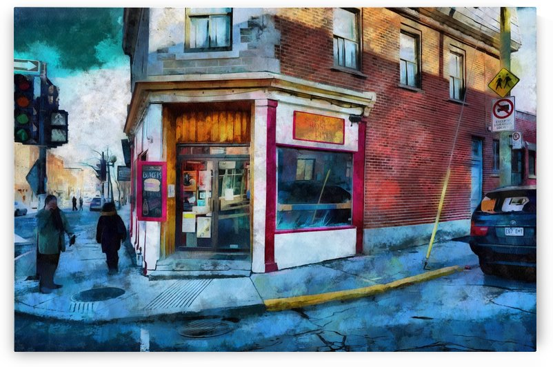 Street Corner in Montreal by Robert Knight