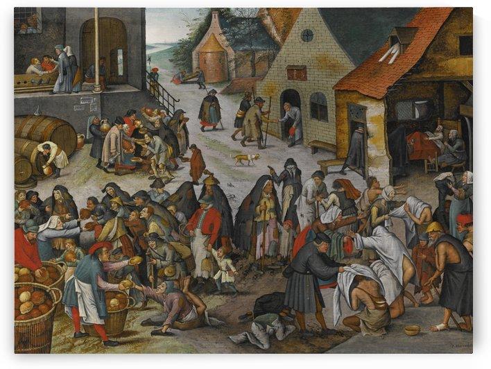 De werken van barmhartigheid by Pieter Brueghel the Younger