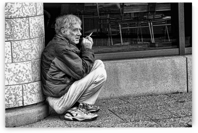 Ron Smoking a Cigarette by Robert Knight