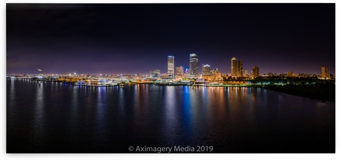 Milwaukee Skyline of Color by Aximagery Media
