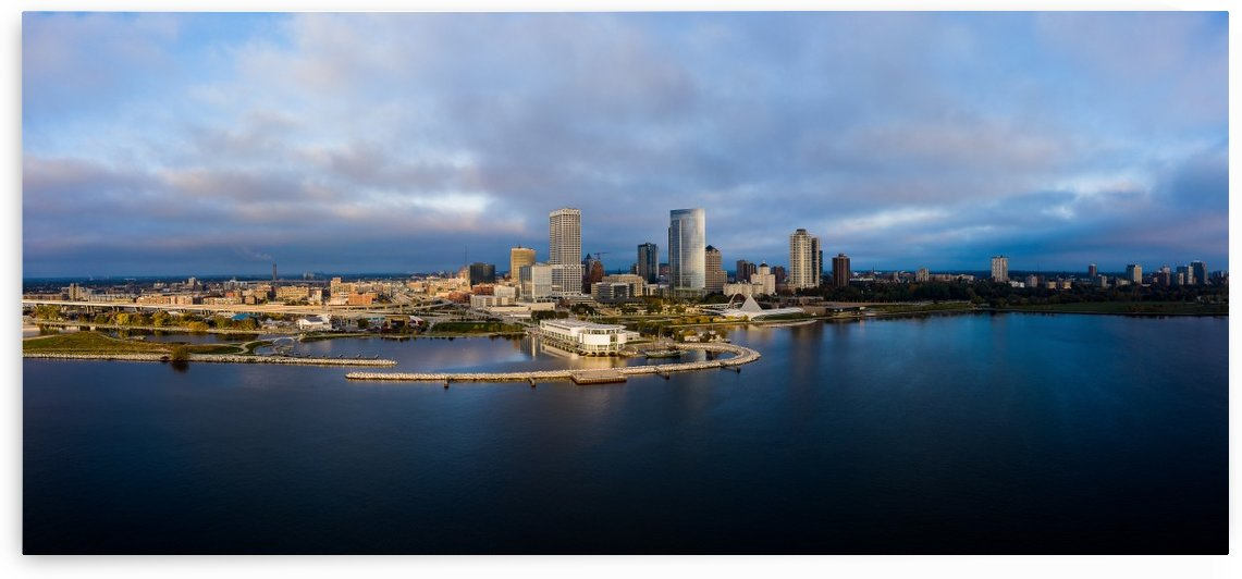 Milwaukee Towers On The Lake by Aximagery Media