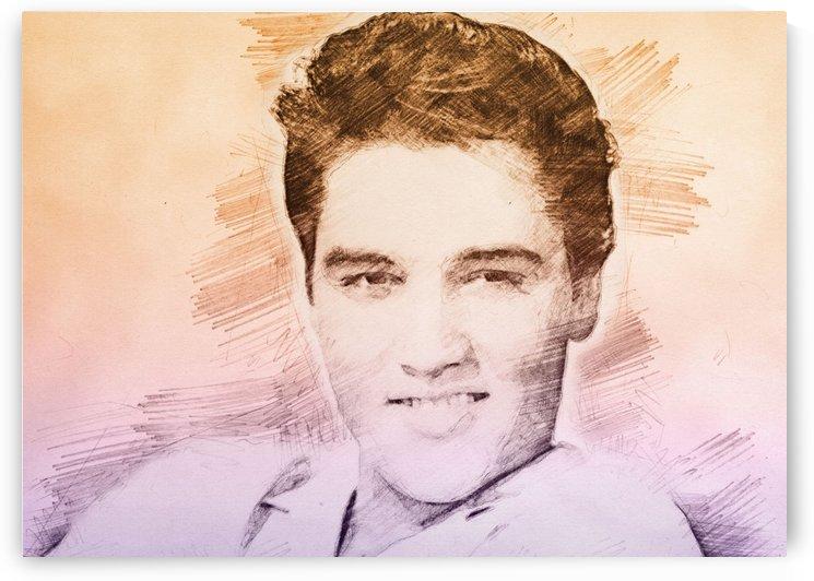 Elvis Presley   Pencil Draw by Gunawan Rb