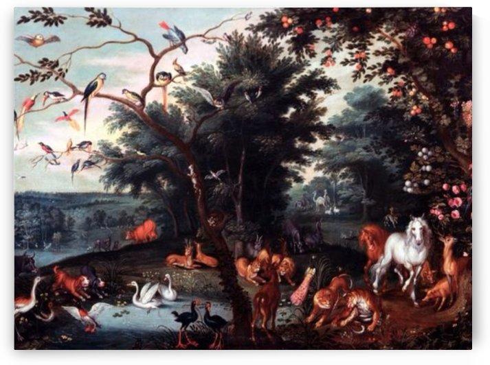 The garden of Eden by Pieter Brueghel the Younger