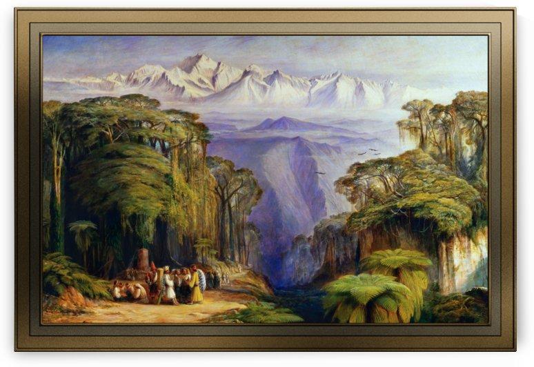Kangchenjunga from Darjeeling by Edward Lear by xzendor7