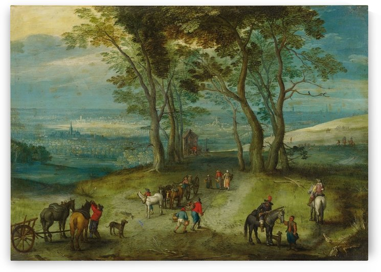 Rural street with chapel by Pieter Brueghel the Younger