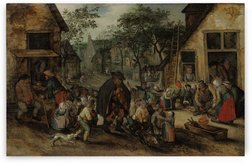 The Blind Hurdy-Gurdy Playe by Pieter Brueghel the Younger