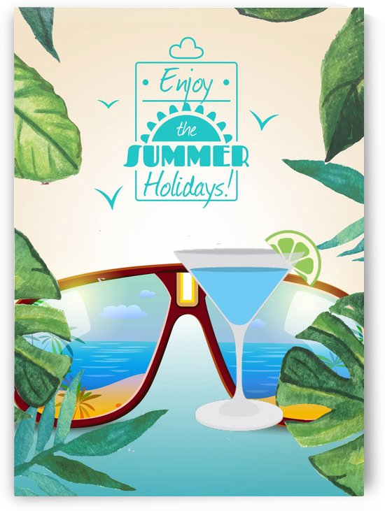 Enjoy The Summer Holiday with Blue Kamikaze Cocktail by Gunawan Rb