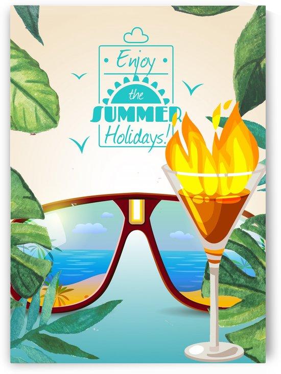 Enjoy The Summer Holiday with Flaming Lamborghini by Gunawan Rb