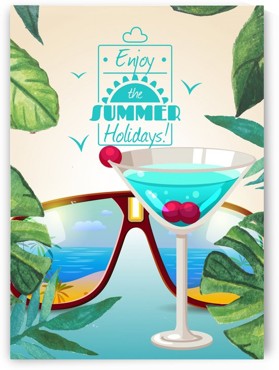 Enjoy The Summer Holiday with Turquoise Blue cocktail by Gunawan Rb