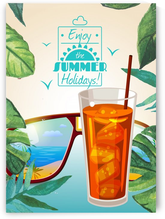 Enjoy The Summer Holiday with iced tea by Gunawan Rb