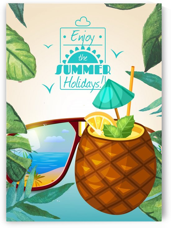 Enjoy The Summer Holiday with tropical pineapple shake by Gunawan Rb