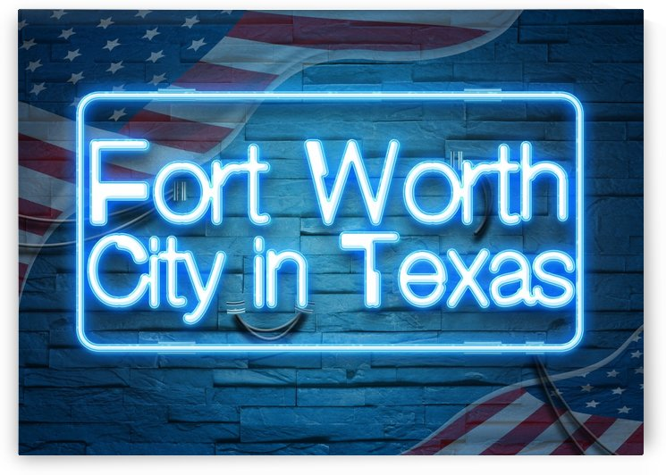Fort Worth City in Texas by Gunawan Rb