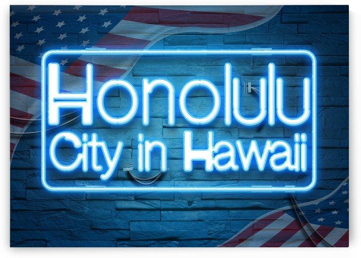 Honolulu City in Hawaii by Gunawan Rb