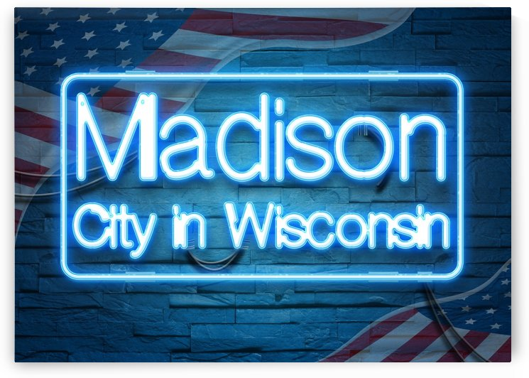 Madison City in Wisconsin by Gunawan Rb
