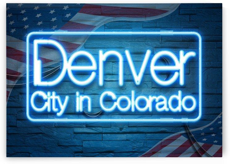 Denver City in Colorado by Gunawan Rb