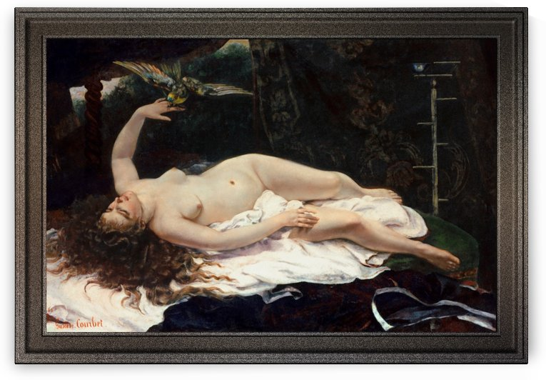 Woman with a Parrot by Gustave Courbet by xzendor7