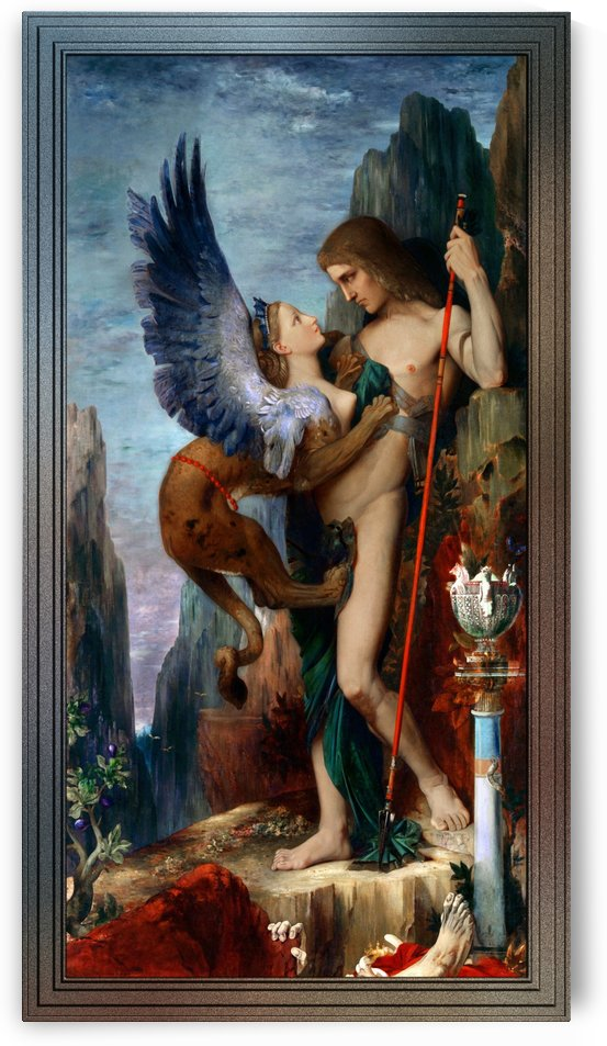 Oedipus And The Sphinx by Gustave Moreau by xzendor7