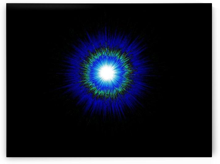 Blue Moon In Black Sky 1 by Sherrie Larch