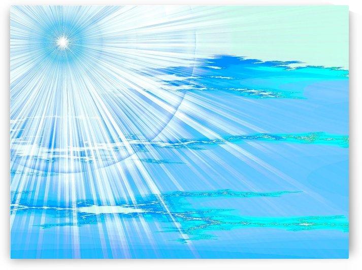 Blue Sun Blue Sky 1 by Sherrie Larch