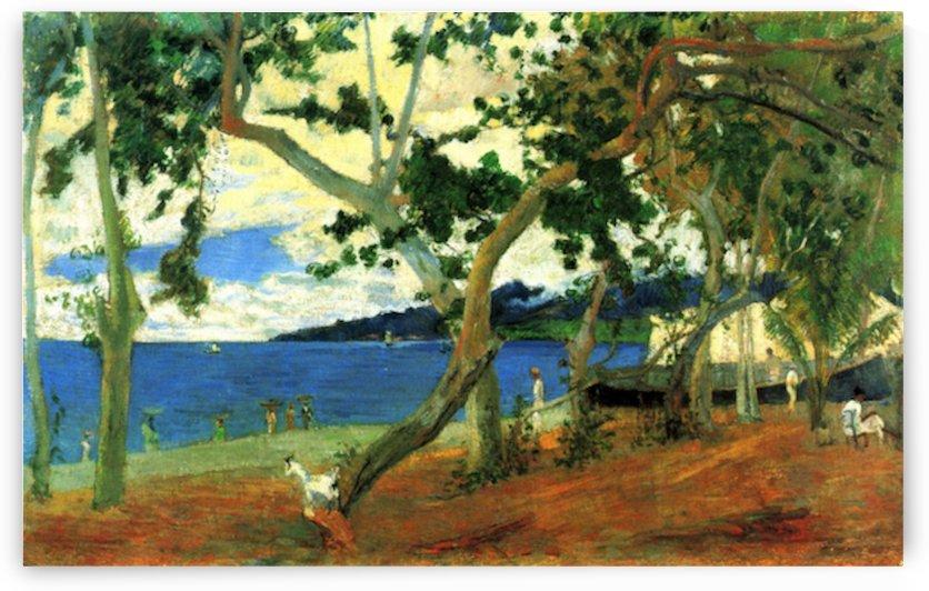 Beach Scene 2 by Gauguin by Gauguin