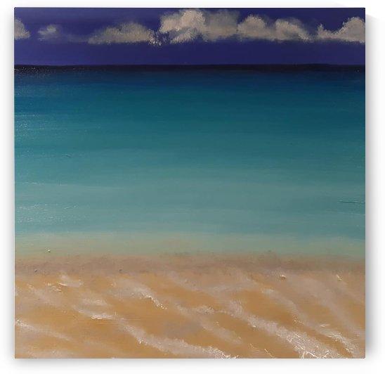Playa Paraiso Gentle Waves by Ninabana Art Studio