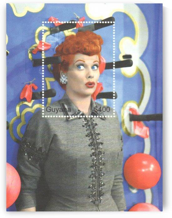 I Love Lucy Postage Stamp Art by Joe Palumbo