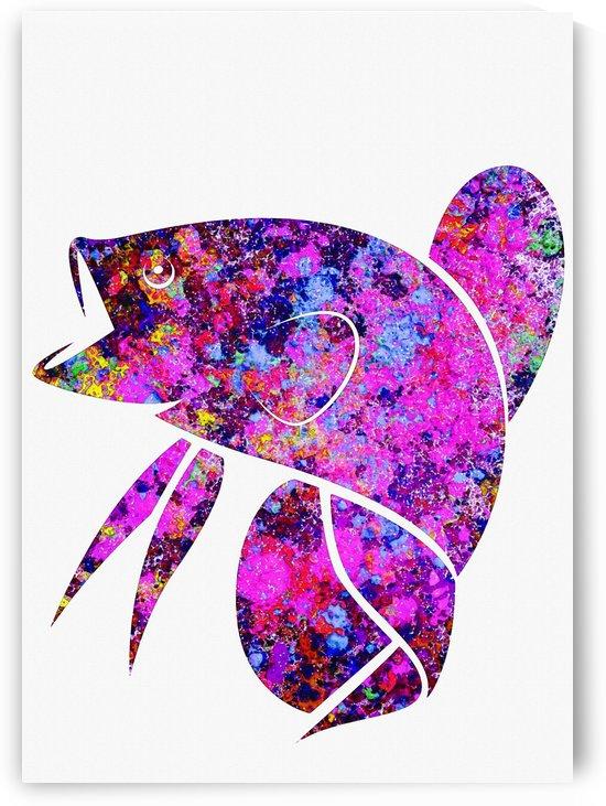 Betta Fish Purple by Gunawan Rb