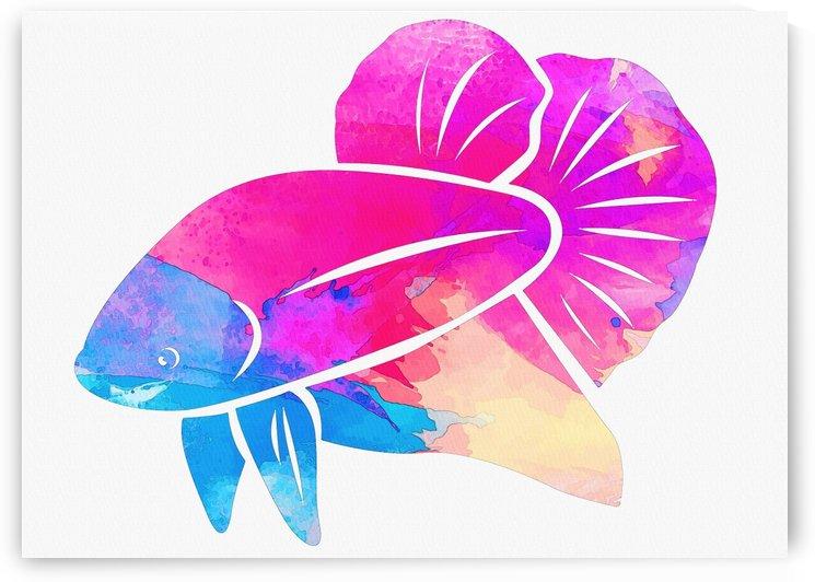 Betta Fish blue head by Gunawan Rb