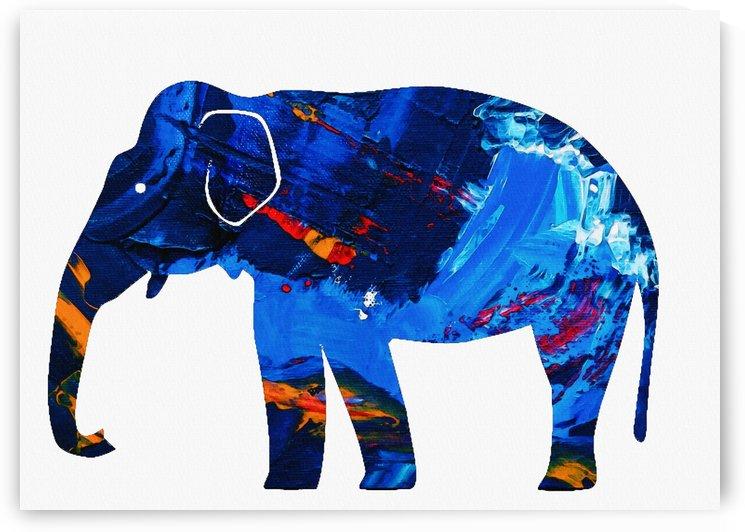 blue elephant skin by Gunawan Rb