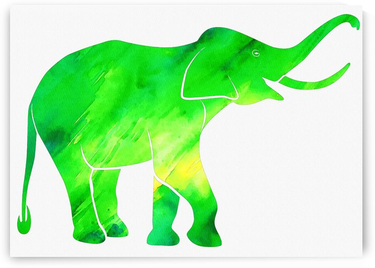 elephant green background by Gunawan Rb